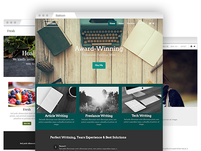 An assortment of simple–to–customize website templates